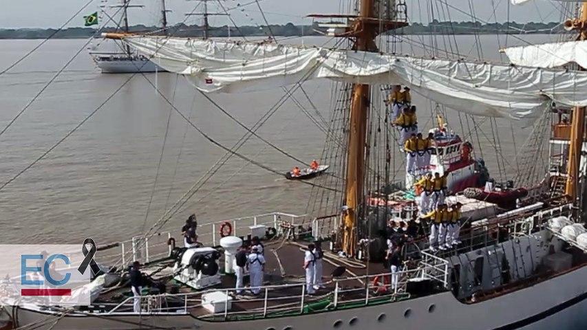 Ocho fragatas partieron de Guayaquil la mañana del 2 de julio de 2018