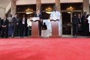Conférence de presse conjointe du Président de la République, Emmanuel Macron, avec Muhammadu Buhari, Président de la République fédérale du Nigeria