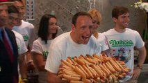 Contestants weigh-in for Nathan's Famous Hot Dog Eating Contest