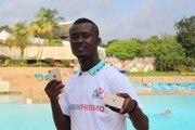 M. AKIRE Mossou Landry, Gagnant de l'iPhone 8 Gold sur AfrikPromo.com