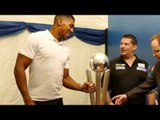 Gary Anderson with Anthony Joshua Olympic heavyweight boxing  gold medalist