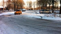 vw beetle snow drift