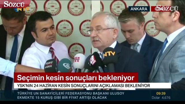 YSK Başkanı Sadi Güven erken seçim açıklaması