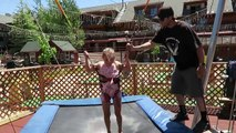 PLAYING MINI GOLF & GOING ON A BUNGEE TRAMPOLINE!