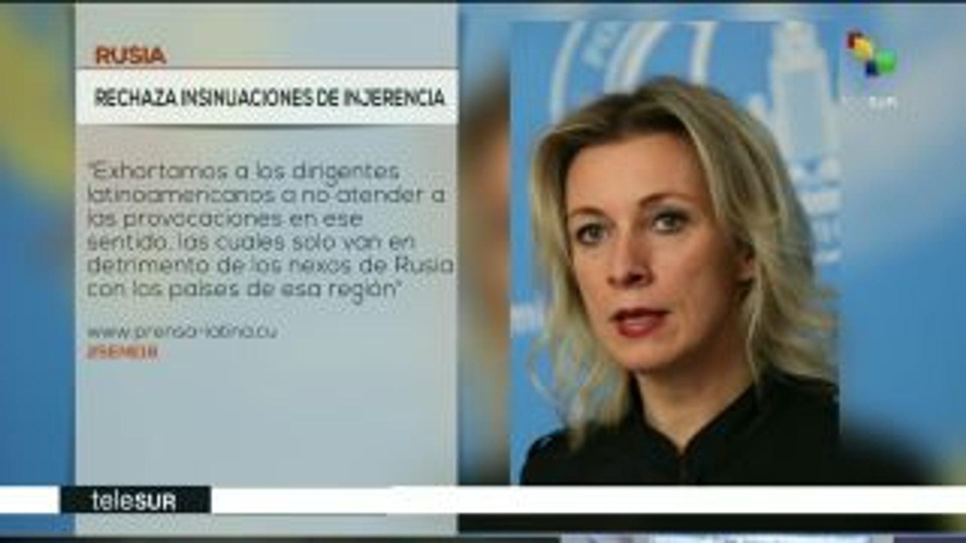 Rusia rechaza insinuaciones sobre injerencia en América Latina