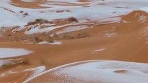 De la neige dans le desert du Sahara...pas si surprenant !