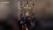 Italians mark two years since death of Cambridge graduate Giulio Regeni in Egypt