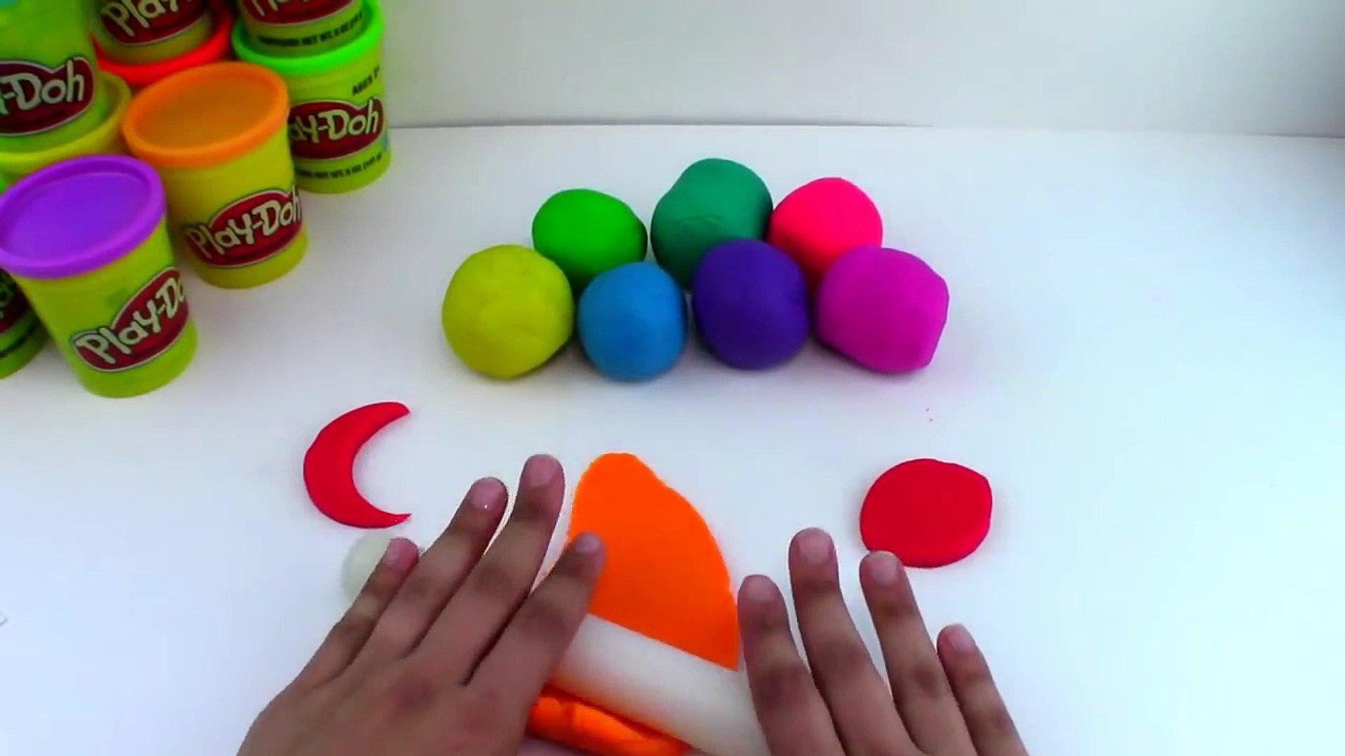 Play Doh Rainbow Flower Lollipop Play Doh Ice Cream Popsicle Rainbow Learning DIY Rainbow Flower