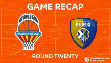 EuroLeague 2017-18 Highlights Regular Season Round 20 video: Valencia 85-83 Khimki
