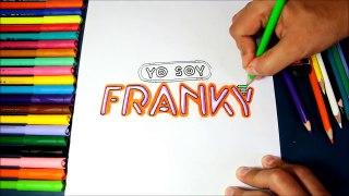 Como dibujar el logo de Yo Soy Franky Logotipo Yo Soy Franky