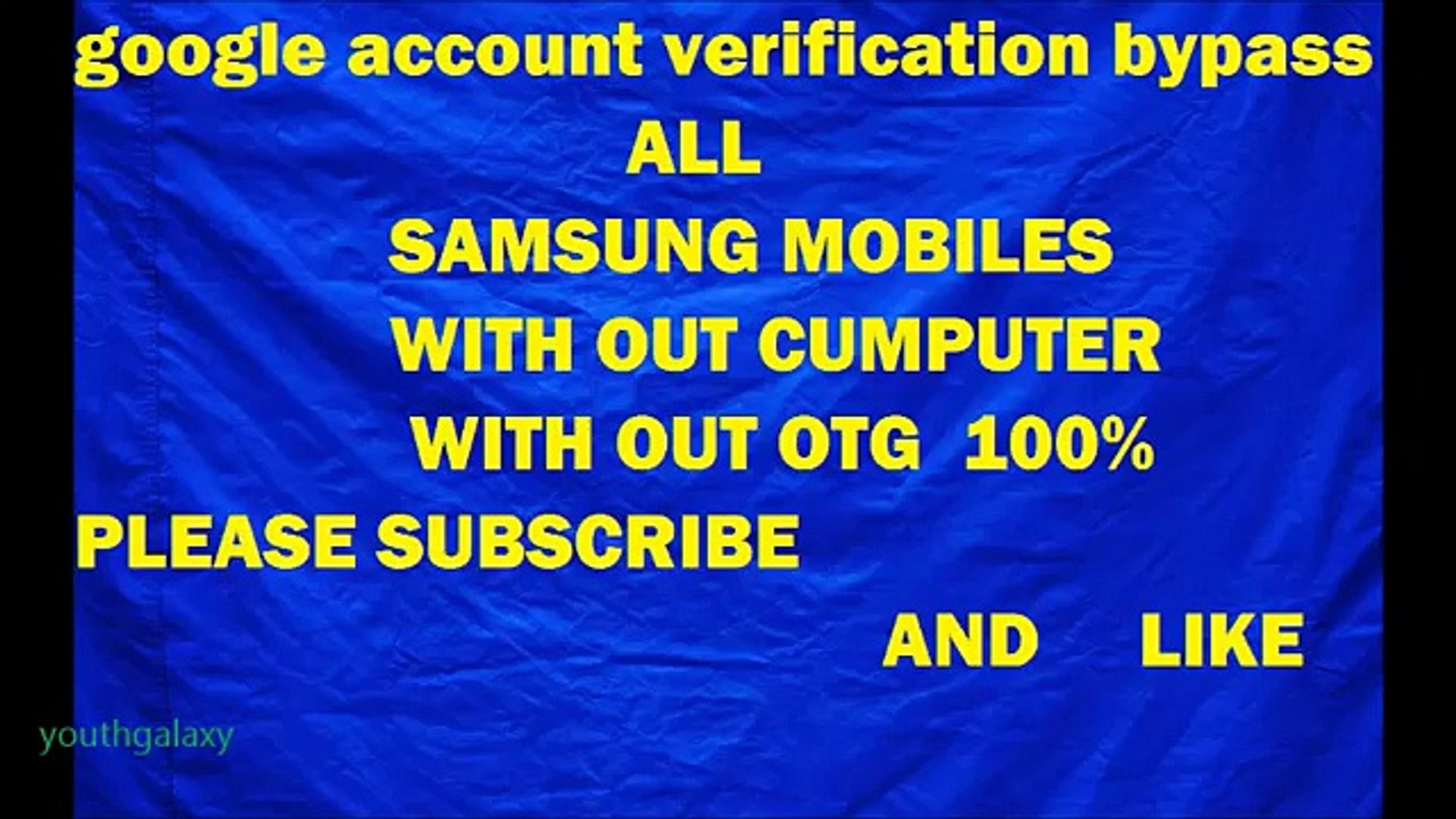 SAMSUNG Easy bypass google account verification with out OTG+SIDESYNC --HD
