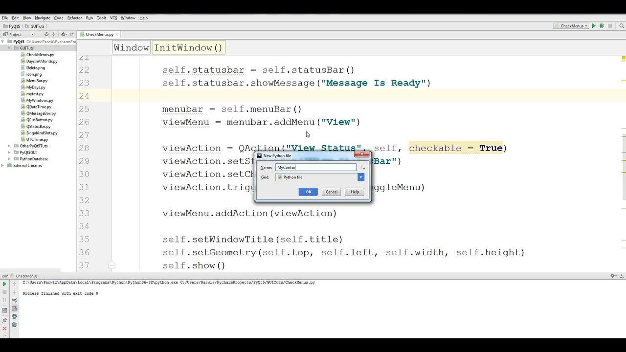13 PyQt5 ContextMenu Python GUI Programming