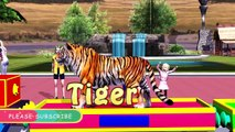 Wild Animals Names and Sounds with Wild Animals Train For Kids | Learning Wild Animals with Sounds