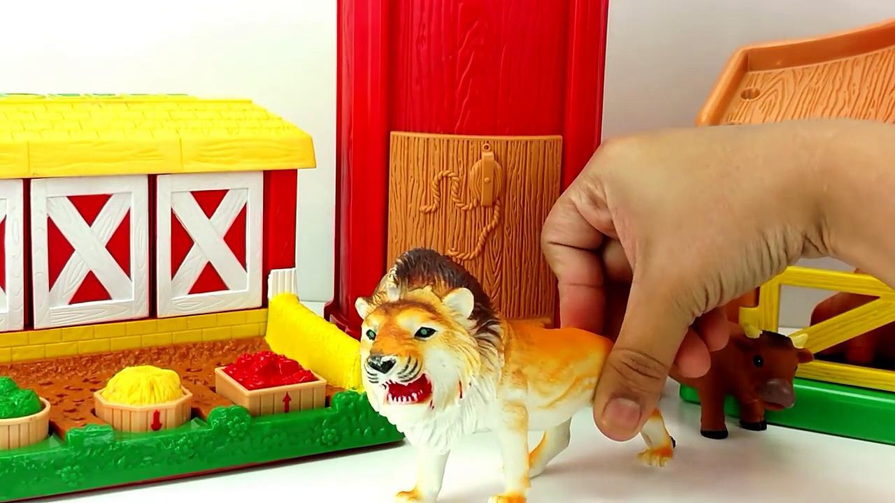 Old Mac donald Farm Attacked By ZOO Animals/Farm Animals Nursery Rhyme/Tror Getting Animals farm