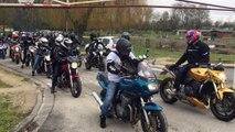 Les motards manifestent contre l'abaissement de la  limitation de vitesse
