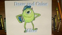 How To Draw Mike Wasowski from Monsters Inc University. - Drawing Tutorial - Step by Step