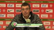 Réaction de Patrick Gabriel et Jean-Marc Furlan après AS Nancy Lorraine - Stade Brestois 29