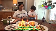 Trying Filipino Foods | John and his mommy eat masarap filipino desserts