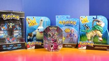 Huge Pokemon Toy And Trading Card Collection With Pack Opening Tin And Pikachu And Ash