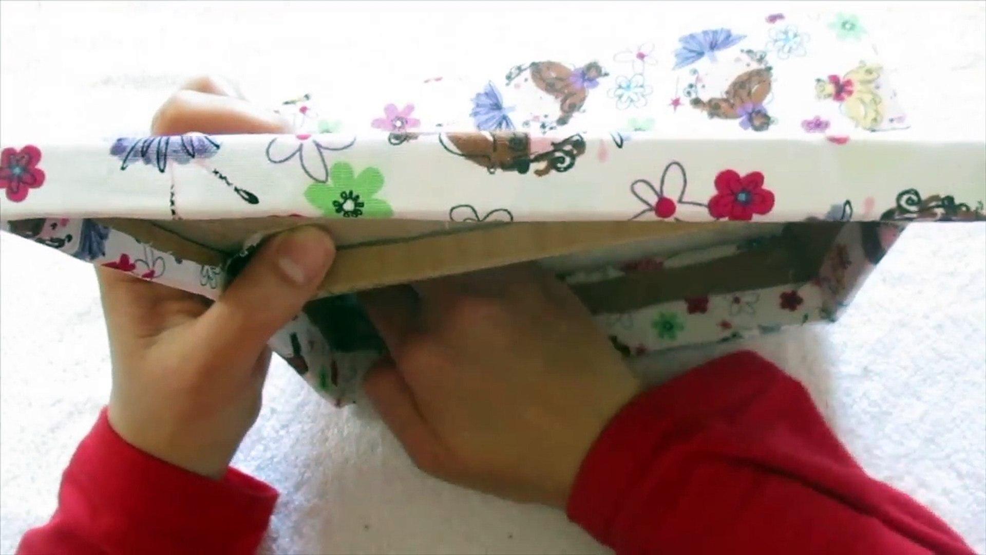 من علبة محارم الى علبة لترتيب الاكسسوارات DIY recycling tissue box to jewelry box