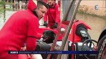 Saône-et-Loire : la submersion de la digue menace les habitations