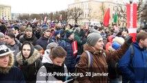Russie : manifestation contre Poutine à Saint Pétersbourg