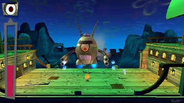 Spongebob Squarepants Planktons Robotic Revenge (3DS) All Bosses