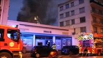 Spectaculaire incendie au centre-ville de Lons-le-Saunier