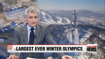 PyeongChang Winter Olympics certain to be largest Winter Games in history
