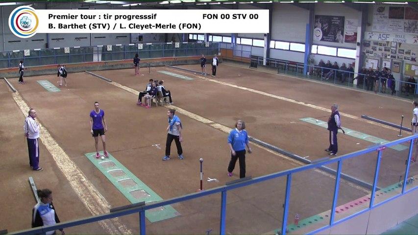Premier tour, tir progressif, Club Elite Féminin, J5 play-off, Fontaine contre Saint-Vulbas, janvier 2018