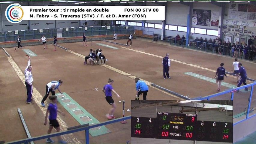 Premier tour, tir rapide double, Club Elite Féminin, J5 play-off, Fontaine contre Saint-Vulbas, janvier 2018