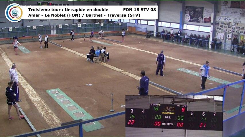 Troisième tour, tir rapide double, Club Elite Féminin, J5 play-off, Fontaine contre Saint-Vulbas, janvier 2018