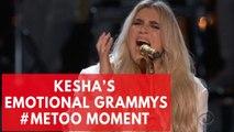 Kesha's emotional 'praying' performance in Grammys 2018 #Metoo moment brings people to tears