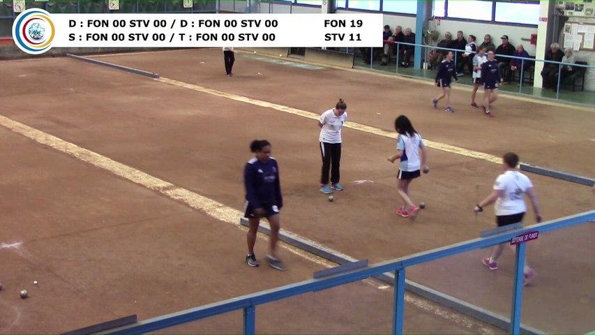Quatrième tour, Club Elite Féminin, J5 play-off, Fontaine contre Saint-Vulbas, janvier 2018