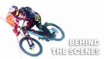 Behind the Scenes: Downhill MTB on steepest World Cup Ski Course.