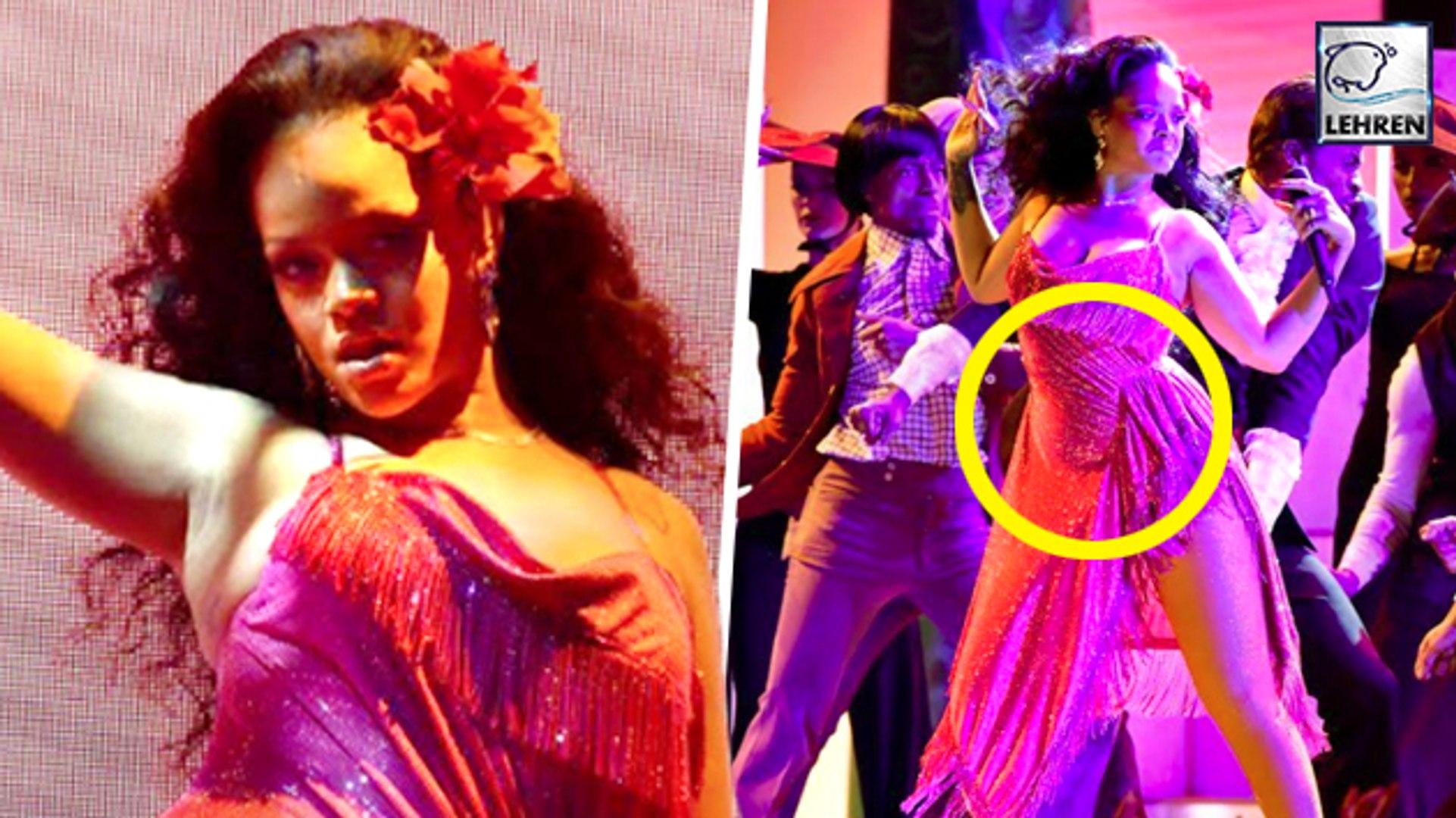 Rihanna Sparks Pregnancy Rumors After Her Grammy Performance