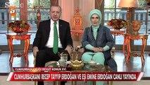 Cumhurbaşkanı Recep Tayyip Erdoğan ve eşi Emine Erdoğan, canlı yayında Müge Anlı'ya konuk oldu