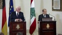 Almanya Cumhurbaşkanı Steinmeier - Lübnan Cumhurbaşkanı Avn basın toplantısı - BEYRUT