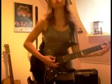 Blackened Metallica guitar cover by Cissie - Kirk Hammett solo included