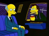 The Simpsons - Lenny drunk scares Mr. Burns