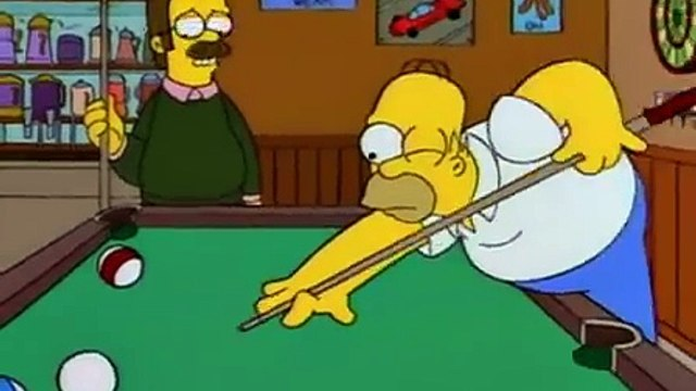 The Simpsons - Ned Flanders - Be careful there, Homer. That is sort of a new table