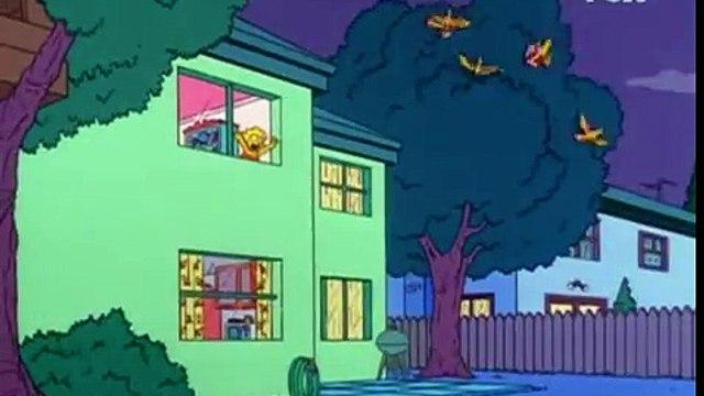 Los Simpsons - Ned Flanders - La alarma anti-satanas!! Al sotano hijos!