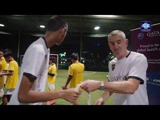 Qatar Airways kids soccer clinic 2017