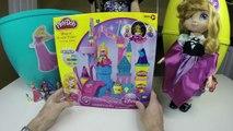 Huge Disney Princess Surprise Eggs with Play-Doh Princess Aurora Baby Doll Toys