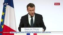 """Macron: """"L'engagement c'est le moyen de l'entraide du pays"""""""