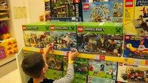 ВЛОГ Магазин Игрушек Лего Майнкрафт Видео для Детей Детский Батут Развлекательный Центр