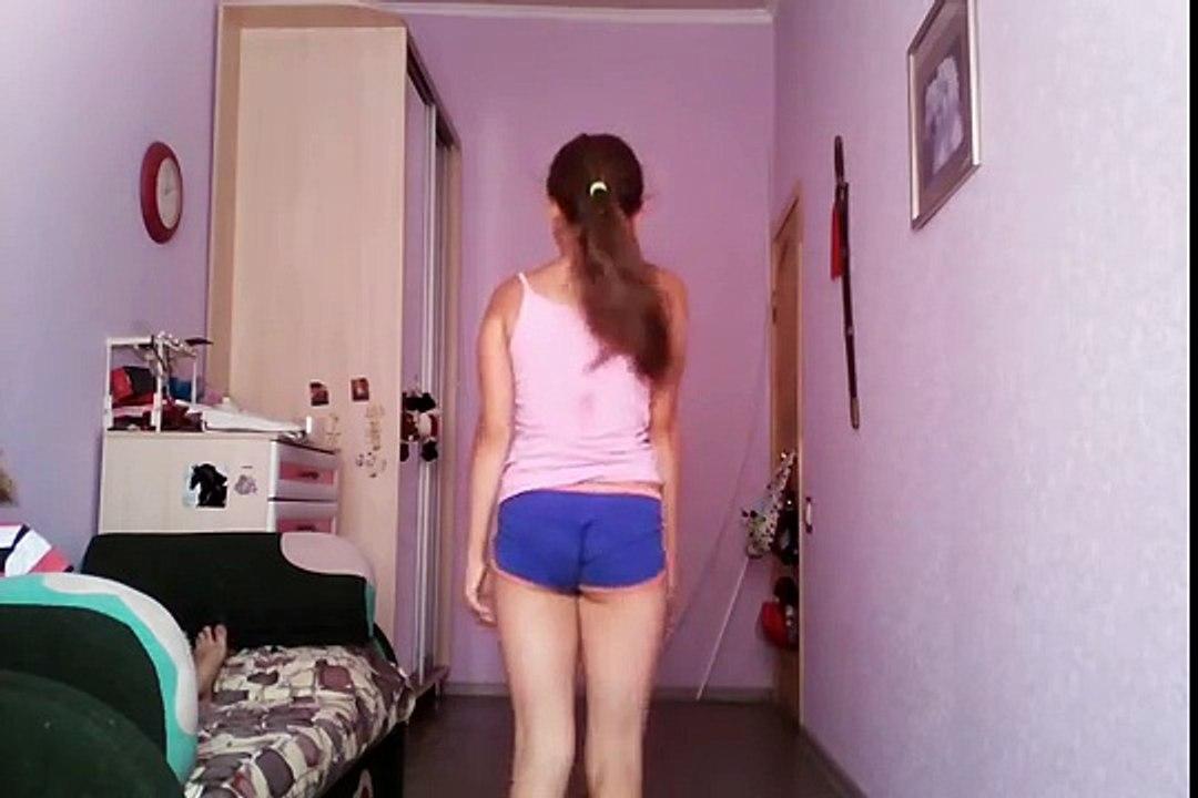 Flexible gymnastics girl