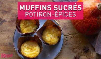 Muffins sucrés au potiron et fromage frais | regal.fr