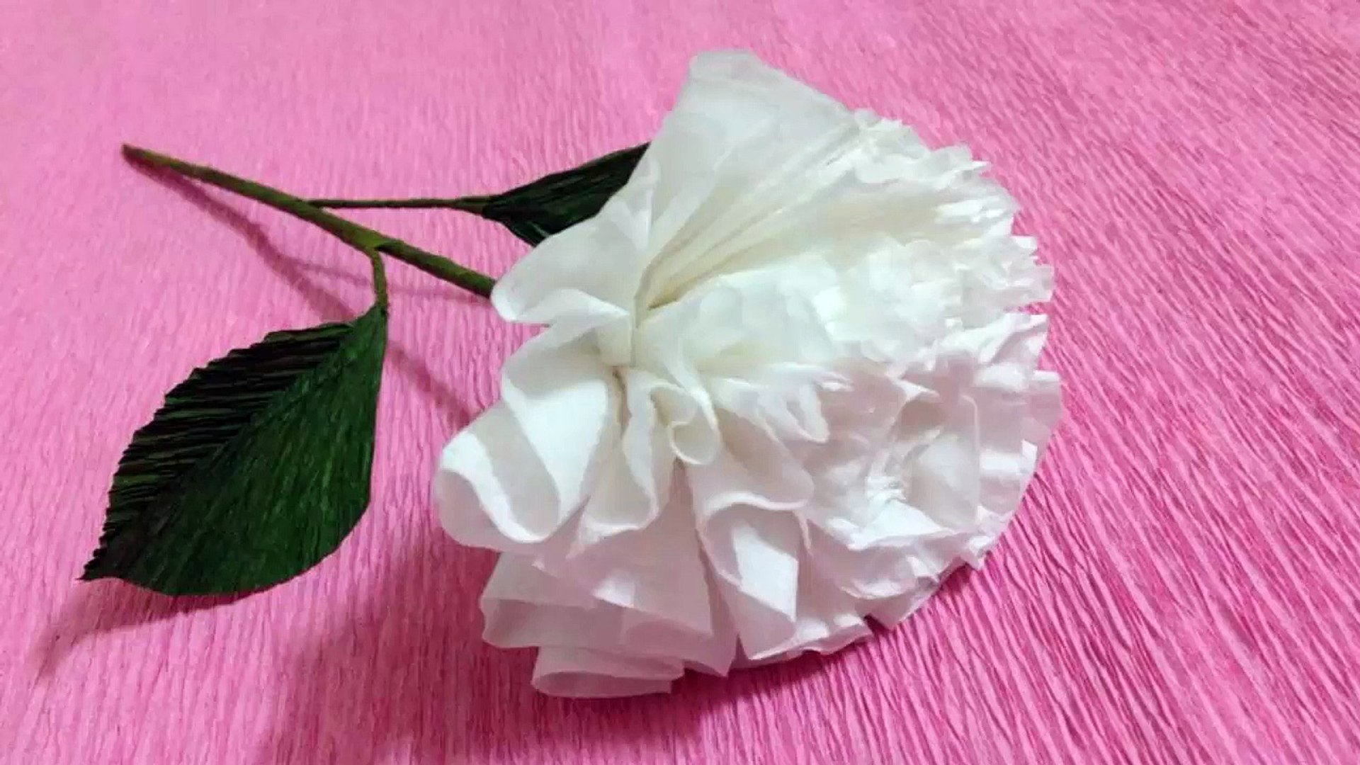 How To Make Tissue Paper Flowers Making Tissue Paper Flowers Paper Flower Tutorial