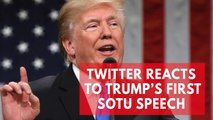 Twitter reacts to Donald Trump's first State of the Union speech